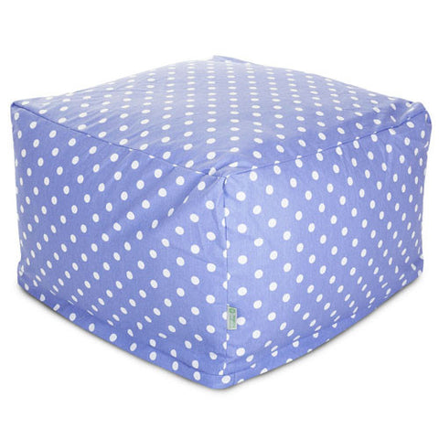 Majestic Home Goods 85907210236 Lavender Polka Dots Large Ottoman - Peazz.com