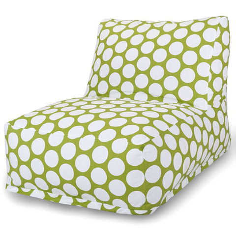 Majestic Home Goods 85907210326 Hot Green Large Polka Dot Bean Bag Chair Lounger - Peazz.com