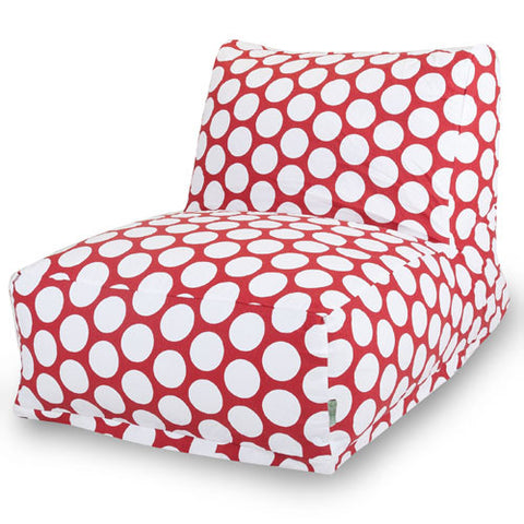 Majestic Home Goods 85907210327 Red Hot Large Polka Dot Bean Bag Chair Lounger - Peazz.com