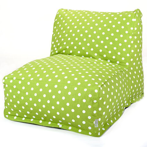 Majestic Home Goods 85907210328 Lime Small Polka Dot Bean Bag Chair Lounger - Peazz.com