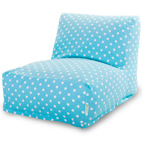 Majestic Home Goods 85907210329 Aquamarine Small Polka Dot Bean Bag Chair Lounger - Peazz.com