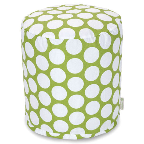 Majestic Home Goods 85907210426 Hot Green Large Polka Dot Small Pouf - Peazz.com