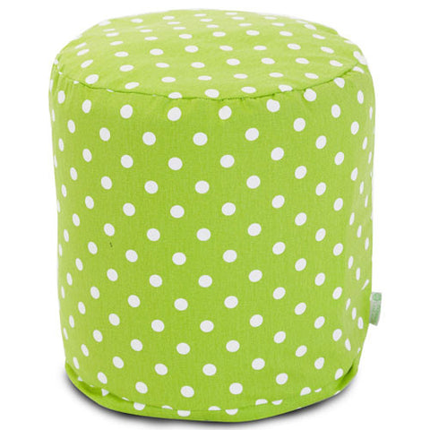 Majestic Home Goods 85907210428 Lime Small Polka Dot Small Pouf - Peazz.com