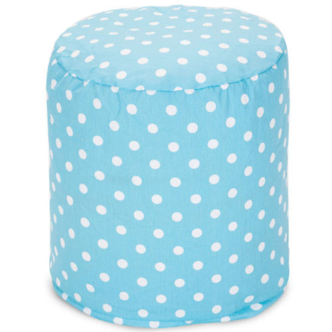 Majestic Home Goods 85907210429 Aquamarine Small Polka Dot Small Pouf - Peazz.com