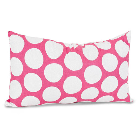 Majestic Home Goods 85907210625 Hot Pink Large Polka Dot Small Pillow 12x20 - Peazz.com