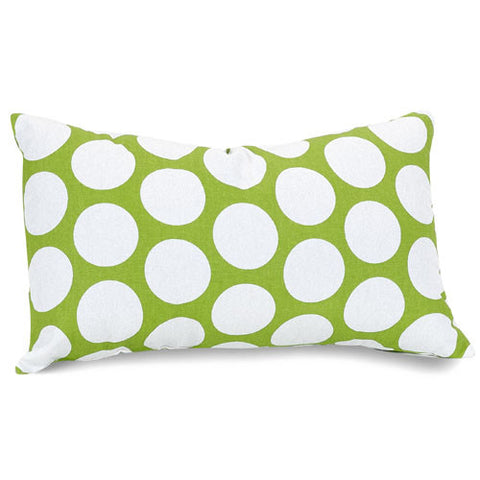 Majestic Home Goods 85907210626 Hot Green Large Polka Dot Small Pillow 12x20 - Peazz.com