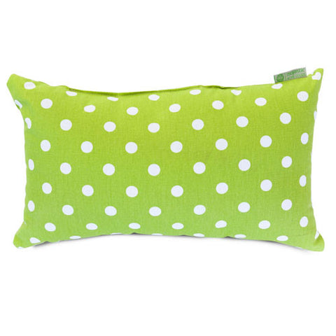 Majestic Home Goods 85907210628 Lime Small Polka Dot Small Pillow 12x20 - Peazz.com
