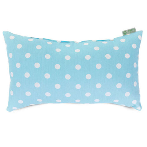 Majestic Home Goods 85907210629 Aquamarine Small Polka Dot Small Pillow 12x20 - Peazz.com