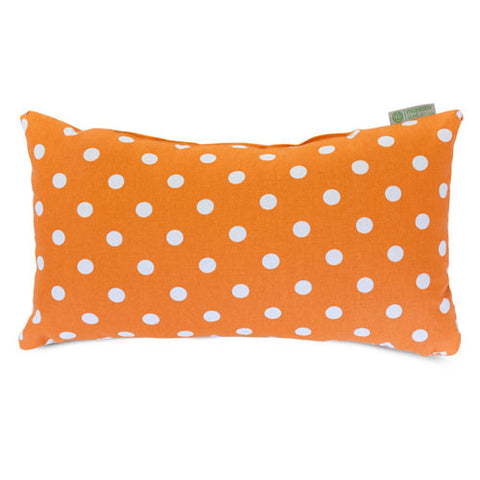 Majestic Home Goods 85907210633 Tangerine Small Polka Dot Small Pillow 12x20 - Peazz.com