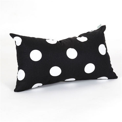 Majestic Home Goods 85907210634 Black Large Polka Dot Small Pillow 12x20 - Peazz.com