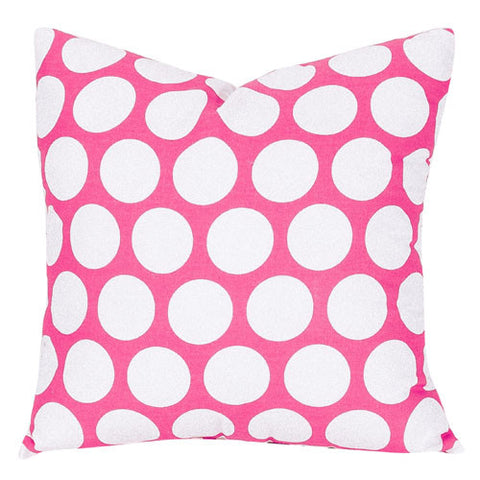 Majestic Home Goods 85907210825 Hot Pink Large Polka Dot Large Pillow 20x20 - Peazz.com