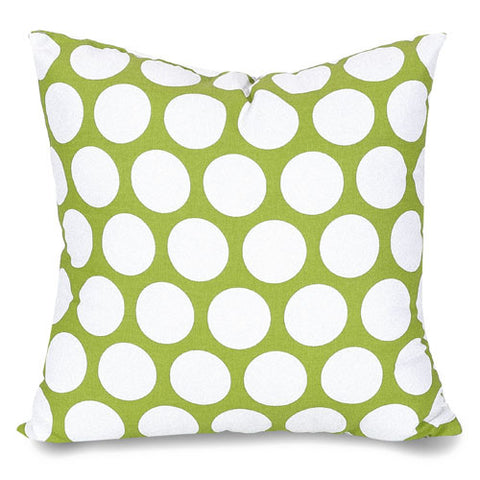 Majestic Home Goods 85907210826 Hot Green Large Polka Dot Large Pillow 20x20 - Peazz.com