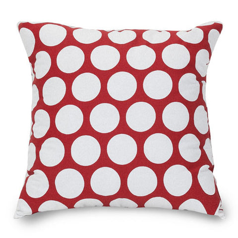 Majestic Home Goods 85907210827 Red Hot Large Polka Dot Large Pillow 20x20 - Peazz.com