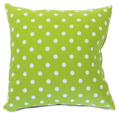 Majestic Home Goods 85907210828 Lime Small Polka Dot Large Pillow 20x20 - Peazz.com