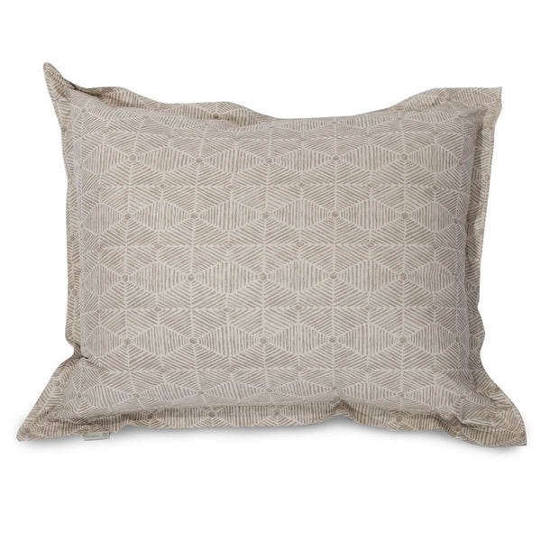 Majestic Home Goods 85907250059 Charlie Beige Metallic Floor Pillow