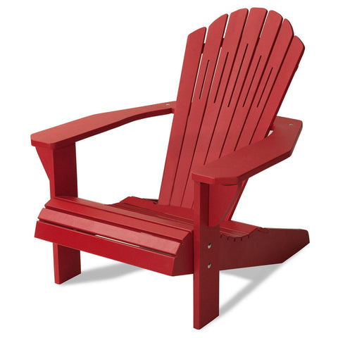 Majestic Home Goods 85907290001 Laguna Collection Red Adirondack Chair - Peazz.com