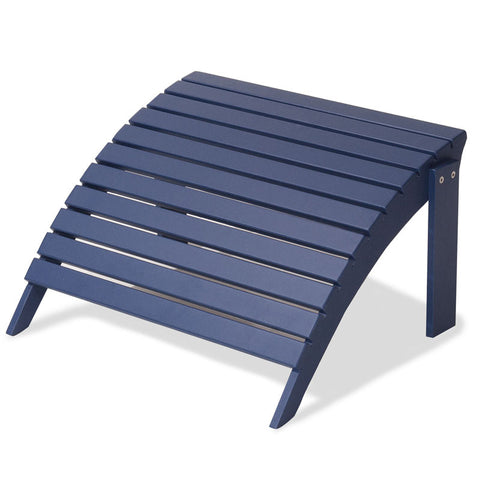Majestic Home Goods 85907290032 Laguna Collection Navy Adirondack Ottoman - Peazz.com