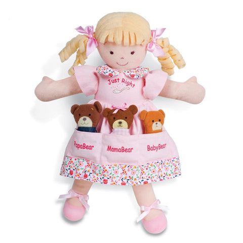 North American Bear 6328 Dolly Pockets Goldilocks & 3 Bears Toys