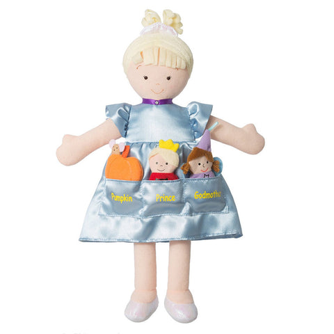 North American Bear 6654 Dolly Pockets Cinderella Blue Toys