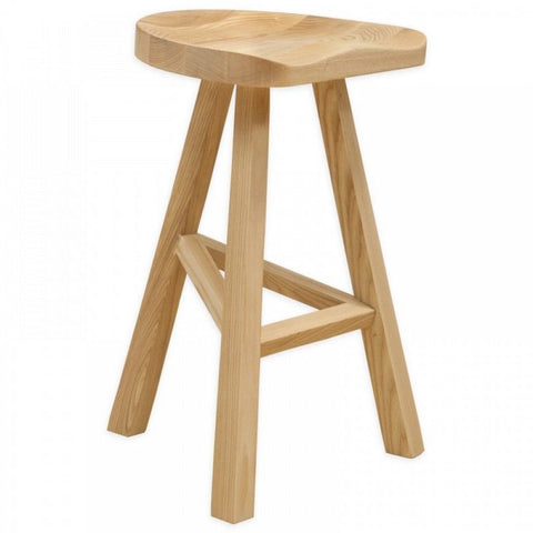 Mod Made MM-WS-034B-NATURAL Hemi Wood Counter Stool