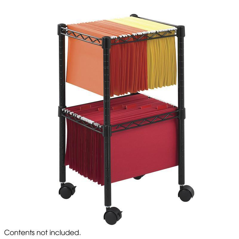 Safco 5221BL 2-Tier Compact File Cart