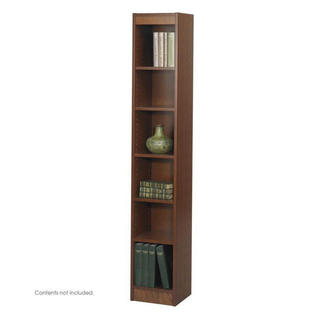 "Safco 1511CYC 6-Shelf Veneer Baby Bookcase, 12""W - Peazz Furniture"