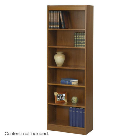 "Safco 1512MOC 6-Shelf Veneer Baby Bookcase, 24""W - Peazz Furniture"