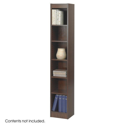 "Safco 1511WLC 6-Shelf Veneer Baby Bookcase, 12""W - Peazz Furniture"