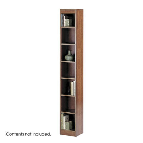 "Safco 1514CYC 7-Shelf Veneer Baby Bookcase, 12""W - Peazz Furniture"