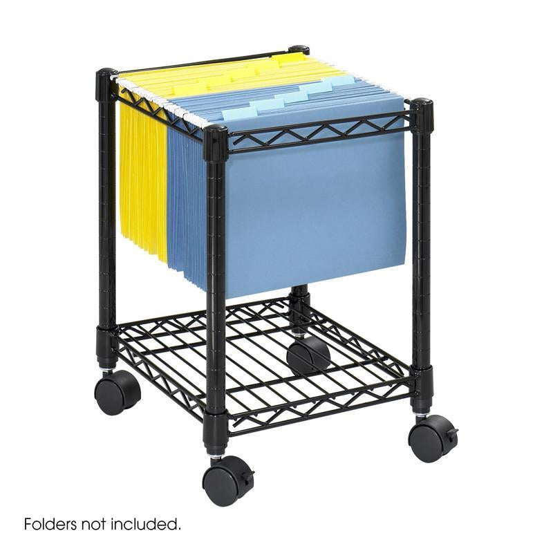 Safco 5277BL Compact Mobile File Cart