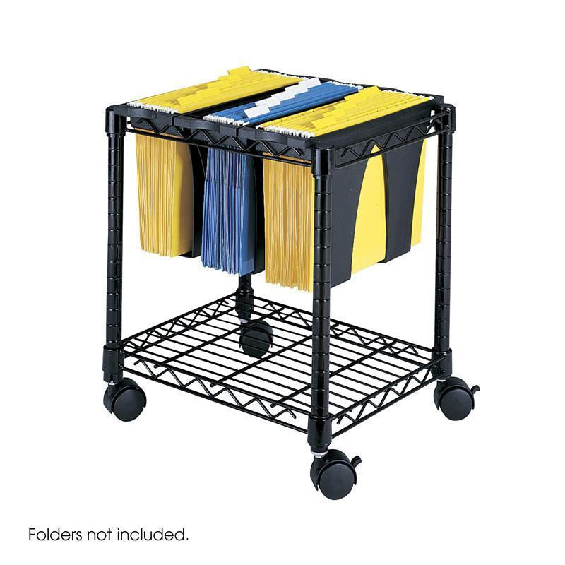 Safco 5228BL Wire File Cart with Tubs