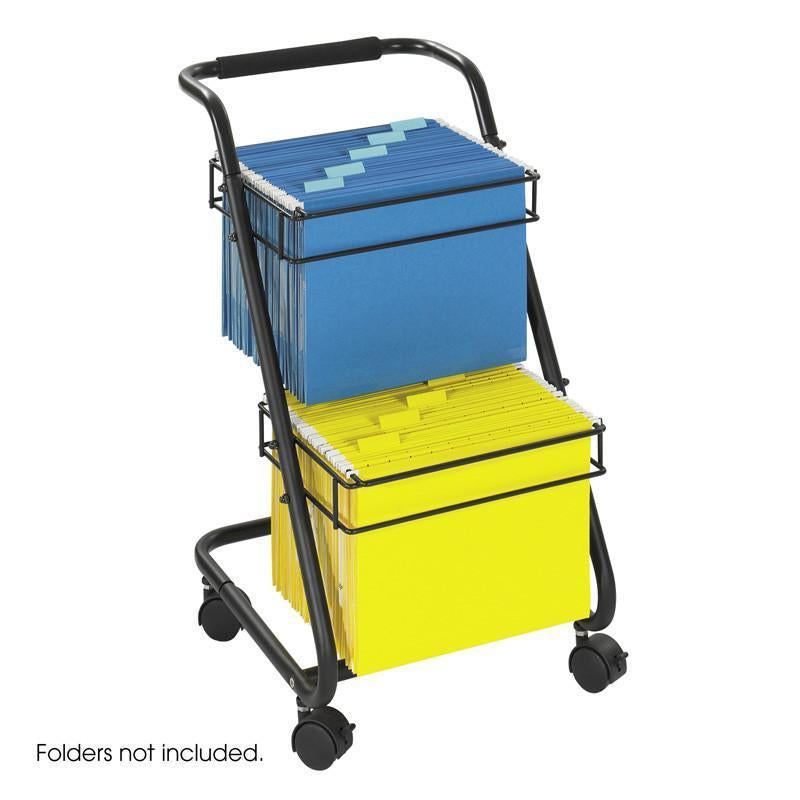 Safco 5223BL Jazz™ Two-Tier File Cart