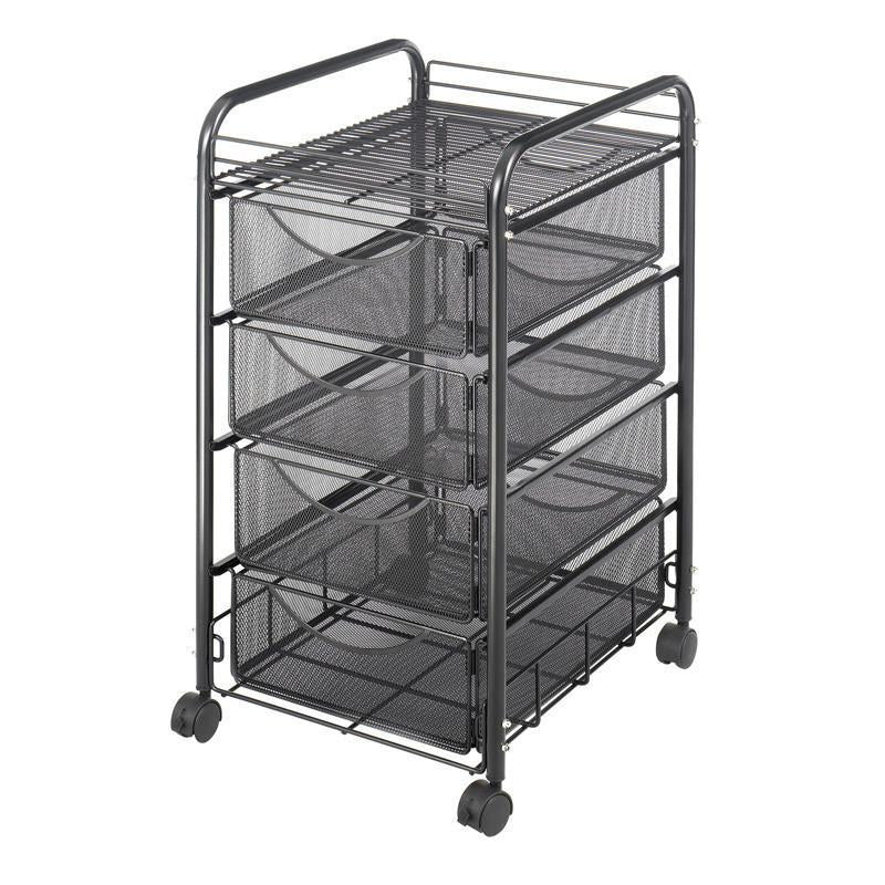 Safco 5214BL Onyx™ Mesh File Cart with 4 Drawers