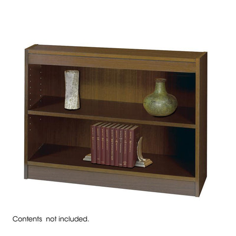 Safco 1501WLC 2-Shelf Square-Edge Veneer Bookcase - Peazz Furniture