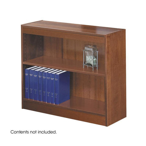 Safco 1501CYC 2-Shelf Square-Edge Veneer Bookcase - Peazz Furniture