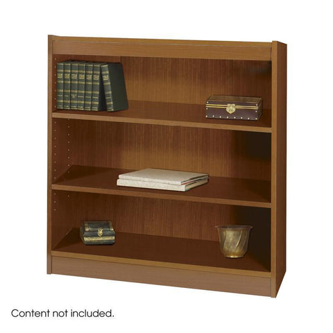 Safco 1502MOC 3-Shelf Square-Edge Veneer Bookcase - Peazz Furniture