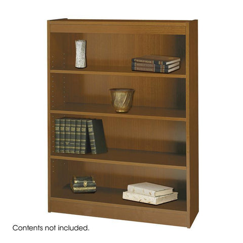 Safco 1503MOC 4-Shelf Square-Edge Veneer Bookcase - Peazz Furniture