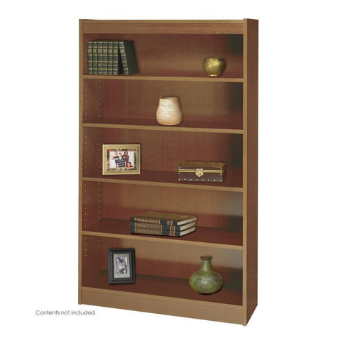 Safco 1504MOC 5-Shelf Square-Edge Veneer Bookcase - Peazz Furniture
