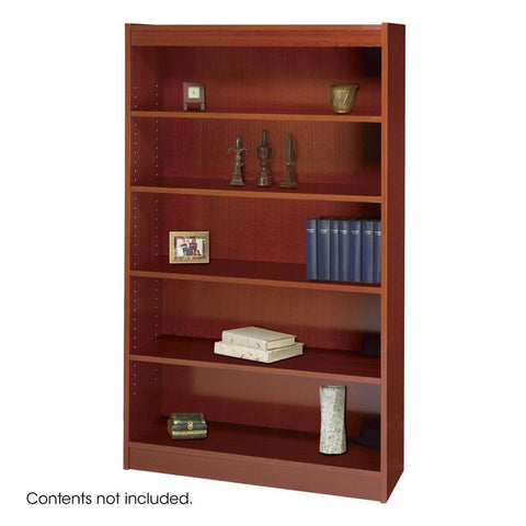 Safco 1504CYC 5-Shelf Square-Edge Veneer Bookcase - Peazz Furniture