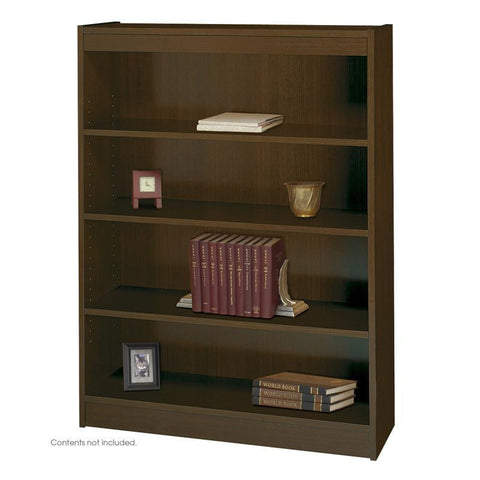 Safco 1503WLC 4-Shelf Square-Edge Veneer Bookcase - Peazz Furniture