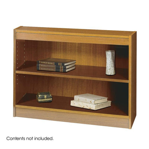 Safco 1501MOC 2-Shelf Square-Edge Veneer Bookcase - Peazz Furniture