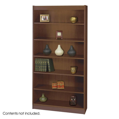 Safco 1505WLC 6-Shelf Square-Edge Veneer Bookcase - Peazz Furniture