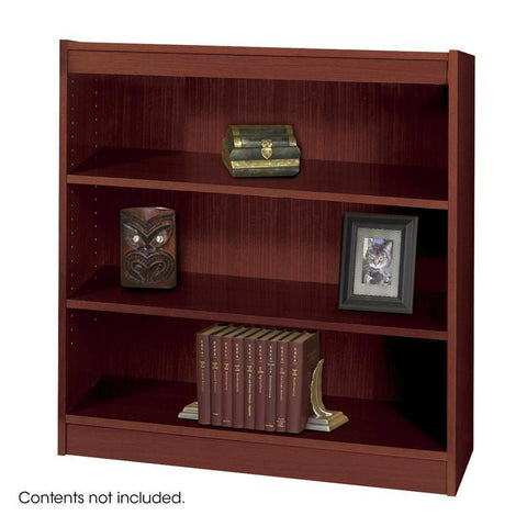 Safco 1502MHC 3-Shelf Square-Edge Veneer Bookcase - Peazz Furniture
