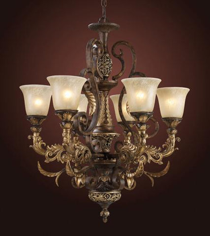 ELK Lighting Lighting 2163-6 Six Light Chandelier In Burnt Bronze - PeazzLighting