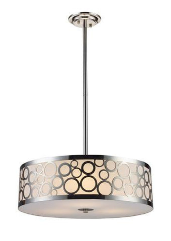 ELK Lighting Lighting 31025-3 Retrovia Three Light Chandelier In Polished Nickel - PeazzLighting