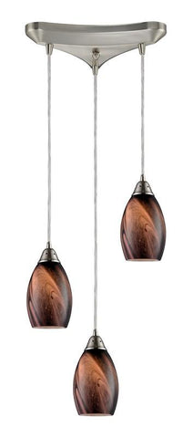 ELK Lighting Formations/Rockslide 3- Light Pendant In Satin Nickel - 31133/3RCK - PeazzLighting