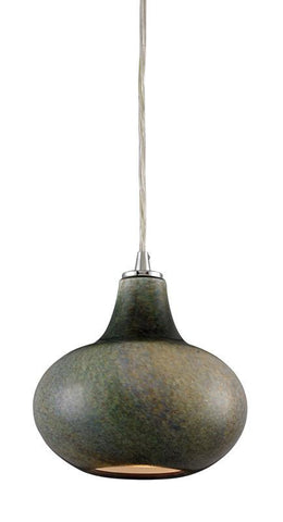 ELK Lighting Kaolin 1- Light Pendant In Satin Nickel - 31144/1 - PeazzLighting