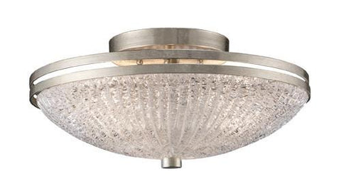 ELK Lighting 31007-3 New York Three Light Semi-Flush In Renaissance Silver - PeazzLighting