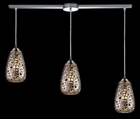 ELK Lighting 20064-3L Nestor Three Light Pendant In Chrome - PeazzLighting