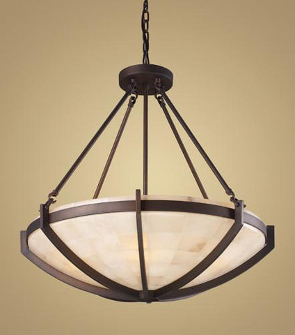 ELK Lighting 19003-6 Spanish Mosaic Six Light Pendant In Aged Bronze - PeazzLighting